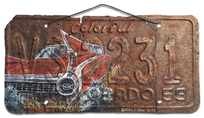 1959 Cadillac Eldorado SeVille on old Colorado license plate