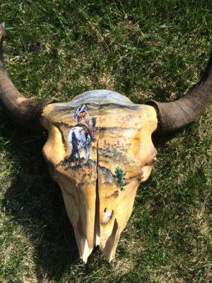 Buffalo skull art