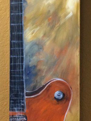 """Gretsch Guitar Art 5"""" x 25"""""""