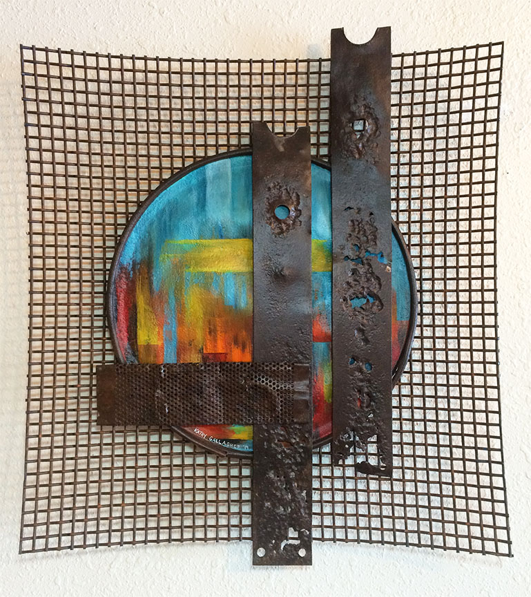 """20"""" x 23"""" industrial abstract piece of rusted metal"""
