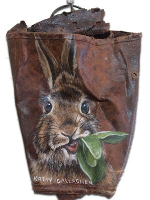 Bunny on crushed can