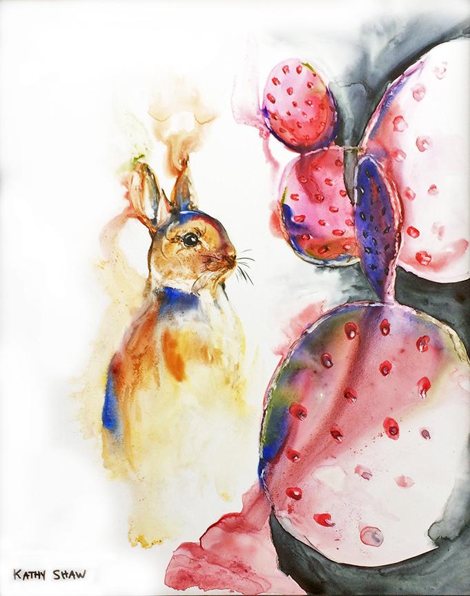 Rabbit and Cactus