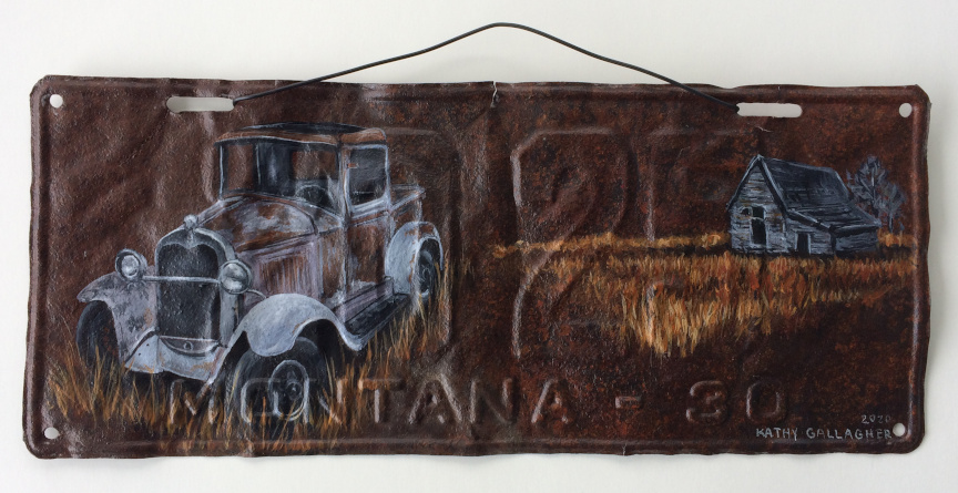 metal-1930 Montana license plate with 1930 Ford Model Aart-license-plate-1930-Truck-2020