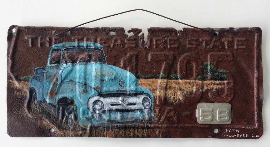 1956 Montana license plate with 1956 Ford F-100 Napco 4x4