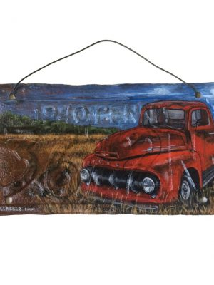 1940 Pennsylvania License Plate with 1952 Ford Pickup