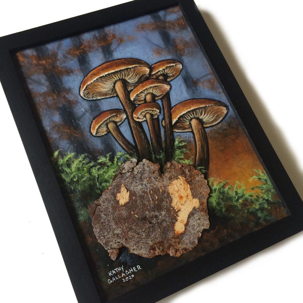 """Mushrooms 9"""" x 12"""""""
