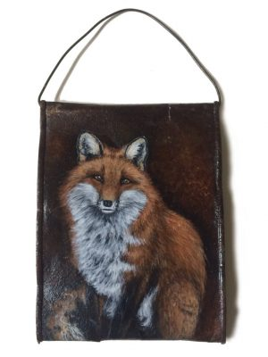 Crushed soup can with fox