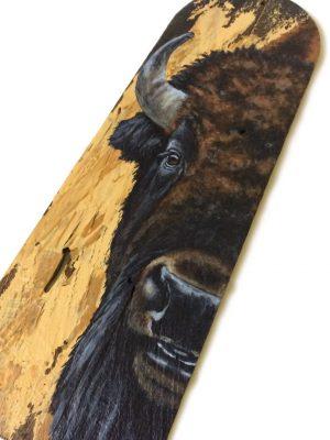 Wood shingle with buffalo