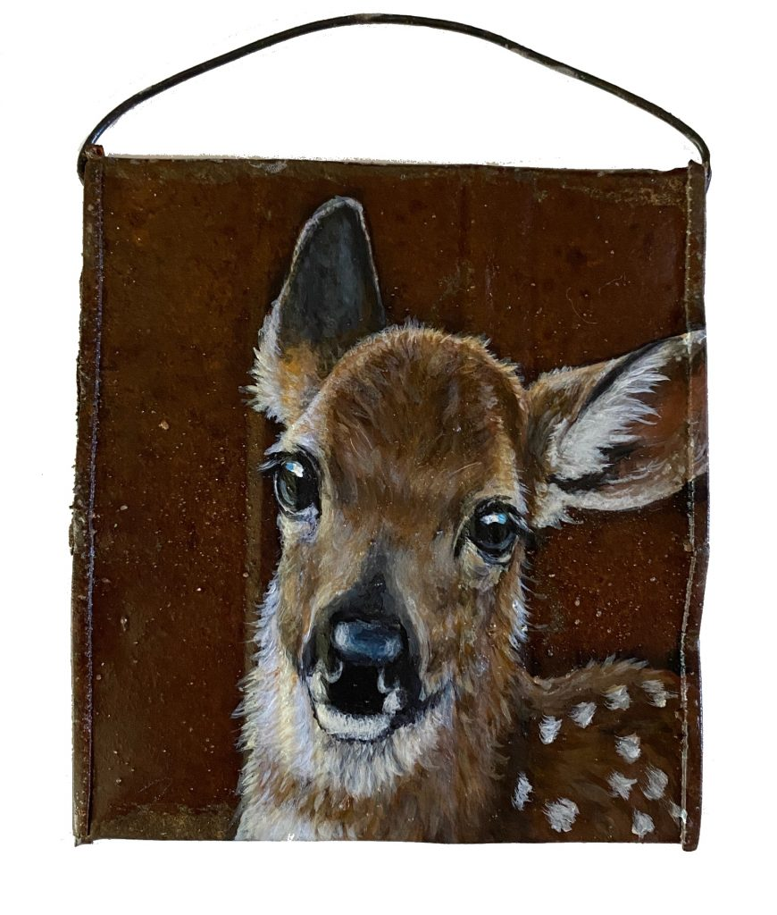 Fawn on Crushed Soup Can